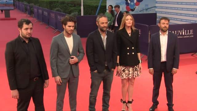 Cedric Kahn Hubert Charuel Francois Civil Karim Leklou Kate Moran on the red carpet during the 2018 Deauville film festival Deauville France 5th...