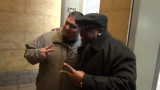 Cedric the Entertainer arrives at SiriusXM Satellite Radio poses with fans for Polaroid Rick in Celebrity Sightings in New York