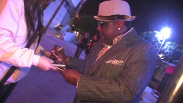 Cedric the Entertainer greets fans at Staples Center in Los Angeles 01/27/12 in Celebrity Sightings in Los Angeles