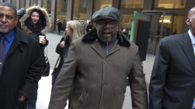 Cedric the Entertainer leaving SiriusXM Satellite Radio on December 08 2014 in New York City