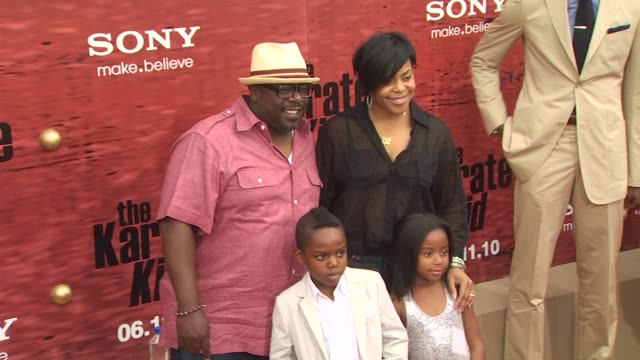 Cedric The Entertainer Lorna Wells Croix Kyles Lucky Rose Kyles at the 'The Karate Kid' Premiere at Westwood CA