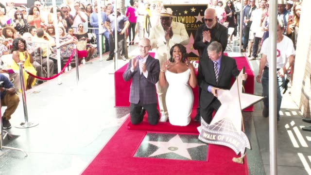 cedric the entertainer, niecy nash and ryan murphy at the niecy nash honored with a star on the hollywood walk of fame on july 11, 2018 in hollywood,... - walk of fame stock videos & royalty-free footage