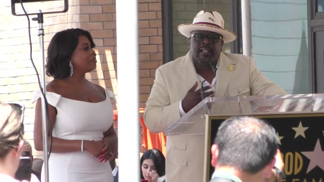 Cedric The Entertainer speaks onstage at Niecy Nash's Star Ceremony on the Hollywood Walk of Fame in Hollywood in Celebrity Sightings in Los Angeles