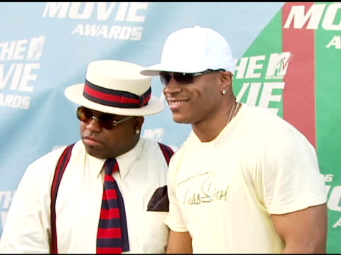 ceelo of gnarls barkley and ll cool j at the 2006 mtv movie awards red carpet at sony pictures studios in culver city california on june 3 2006 - ll cool j stock videos and b-roll footage
