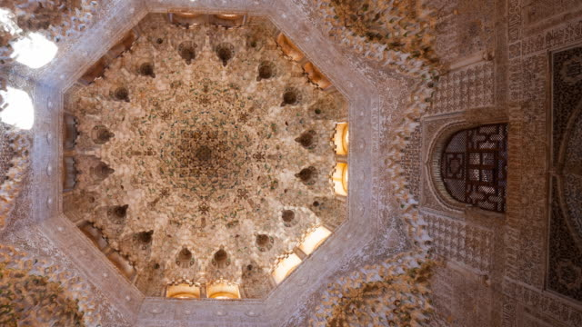 vidéos et rushes de ceiling decorations in the alhambra - ornement