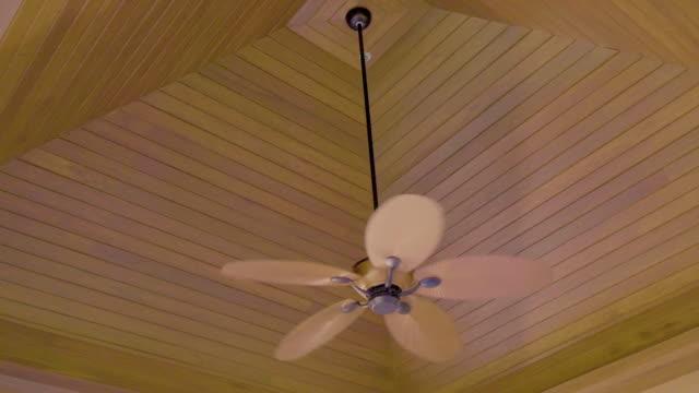 vídeos de stock, filmes e b-roll de ventilador de teto funcionando - ventilador de teto