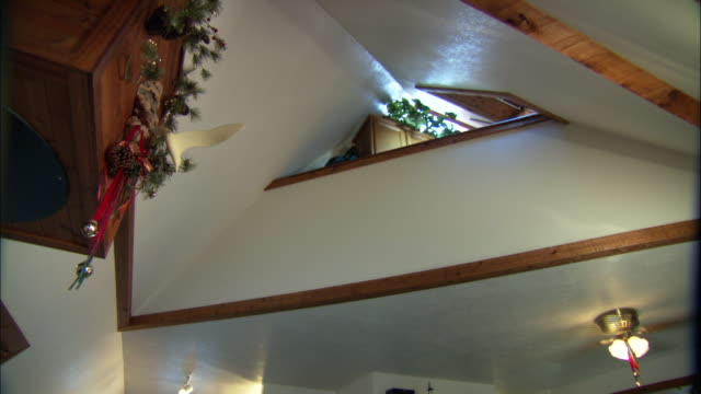 a ceiling fan turns in the pyramid house. - ceiling fan stock videos & royalty-free footage