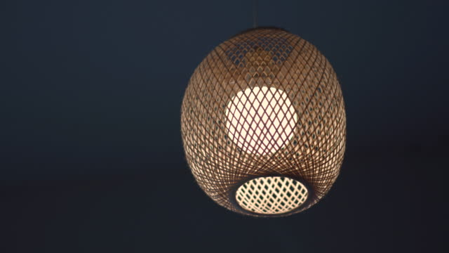 ceiling lamps in room. - pendant light stock videos & royalty-free footage