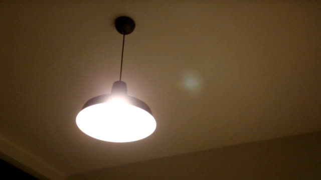 ceiling lamps. - electric lamp stock videos & royalty-free footage