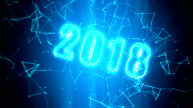 Celebrate 2018 new year of technology loopable background