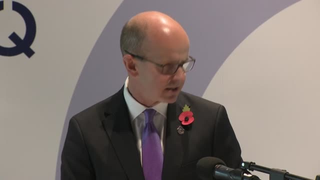 celebrates its 100th birthday; england: staffordshire: national memorial arboretum: int jeremy fleming speech sot part 2 of 3 - national memorial arboretum stock videos & royalty-free footage