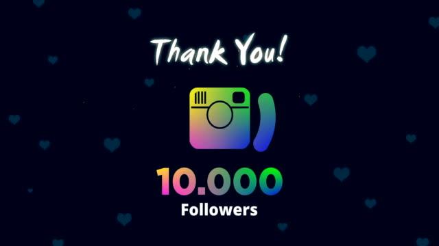 celebrating 10k followers - following stock videos & royalty-free footage