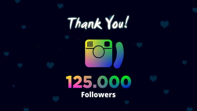 celebrating 125k followers - social media followers stock videos & royalty-free footage