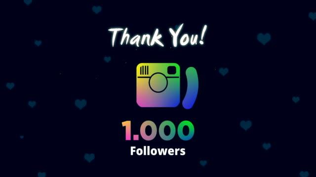 celebrating 1k followers - social media followers stock videos & royalty-free footage