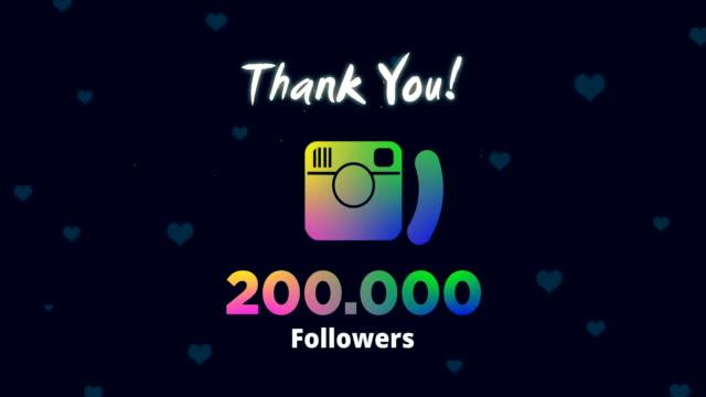 celebrating 200k followers - social media followers stock videos & royalty-free footage