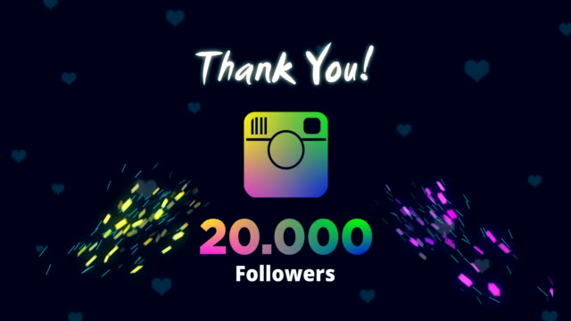 celebrating 20k followers - social media icon stock videos & royalty-free footage