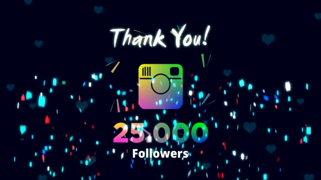 celebrating 25k followers - social media followers stock videos & royalty-free footage