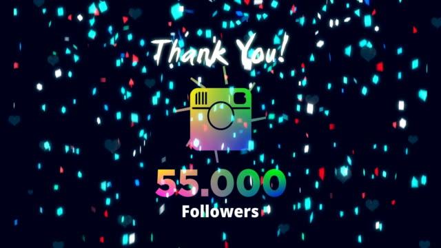 celebrating 55k followers - social media followers stock videos & royalty-free footage