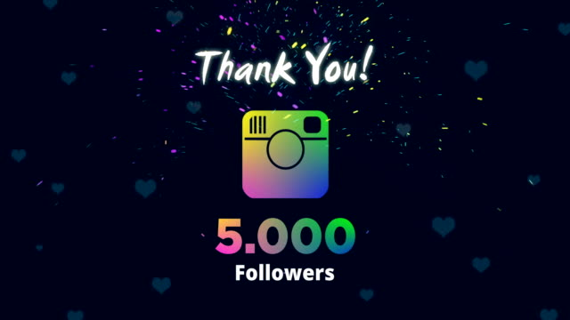 celebrating 5k followers - social media followers stock videos & royalty-free footage