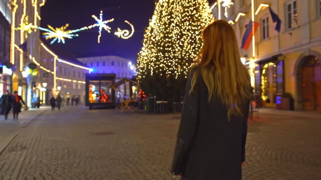 celebrating christmas outside - mgost stock videos and b-roll footage