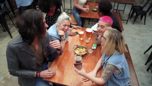 celebrating friendship - pink hair stock videos & royalty-free footage