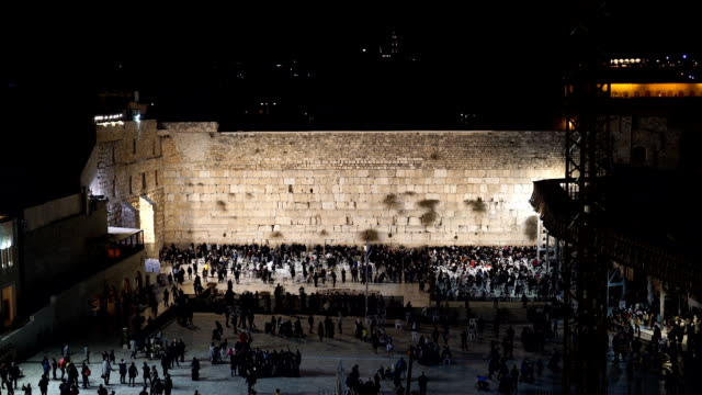 celebrating hanukkah at the western wall in the old city - jerusalem stock videos & royalty-free footage