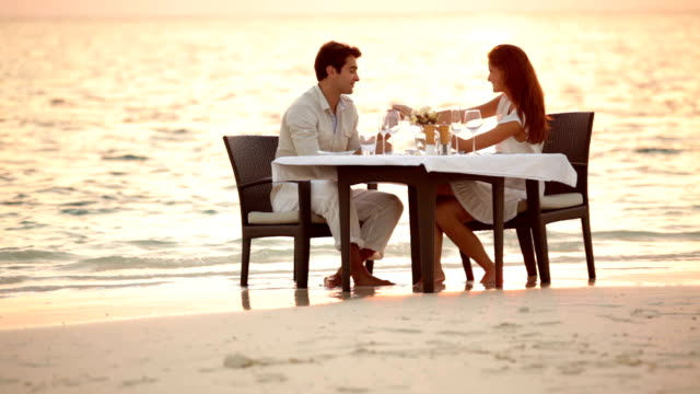 celebrating the best of life in a perfect setting - romance stock videos & royalty-free footage