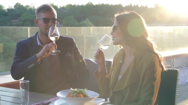 Celebrating with white wine