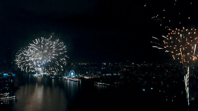 celebration background :seamless looping fantastic wonderful firework - explosive material stock videos & royalty-free footage