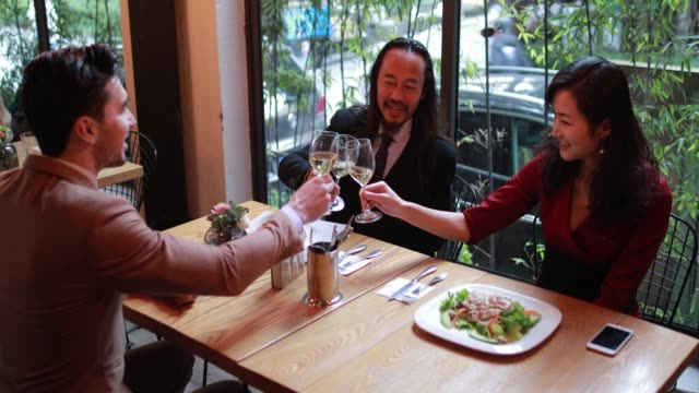 celebration lunch - business lunch stock videos & royalty-free footage
