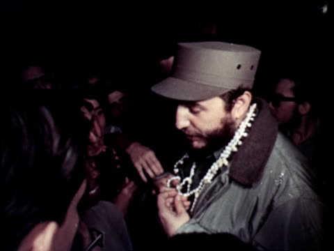 celebration of new years eve / singing and dancing - fidel castro stock videos and b-roll footage