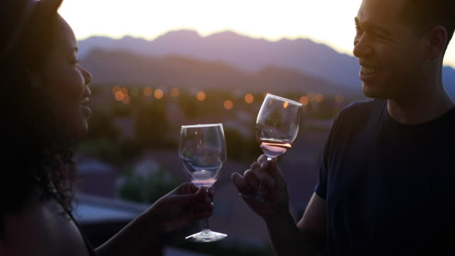celebration with wine - 4k - wine glass stock videos & royalty-free footage