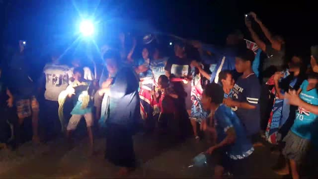 celebrations erupted in the fijian village of nawaka on july 28 after the pacific country's olympic win against new zealand in tokyo. this footage... - village点の映像素材/bロール