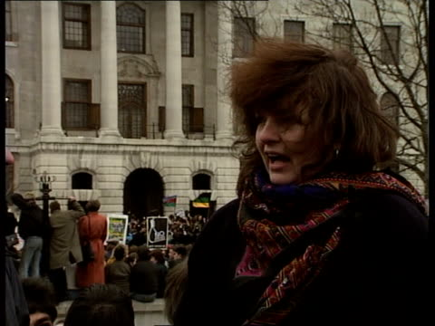 Celebrations in Trafalgar Square ENGLAND London Trafalgar Sq South African Embassy CMS Webster i/c 2 SHOT Webster and Brickley CMS Carol Brickley...