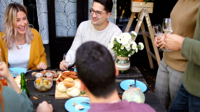 celebratory brunch - dining table stock videos & royalty-free footage