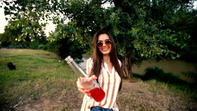 celebratory toast with cameraman - juice drink stock videos & royalty-free footage