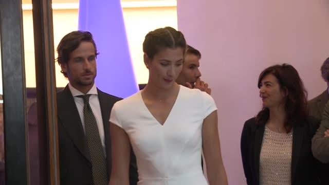celebrities and tennis players attend the presentation of the mutua madrid open - サンドラ・ガゴ点の映像素材/bロール
