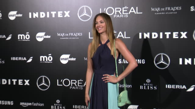 celebrities are seen after andres sarda fashion show during the merecedes benz fashion week spring/summer 2021 at ifema on september 10, 2020 in... - ヘレン リンデス点の映像素材/bロール
