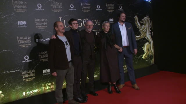 celebrities attend 'game of thrones' official exhibition premiere in madrid - liam cunningham stock videos & royalty-free footage