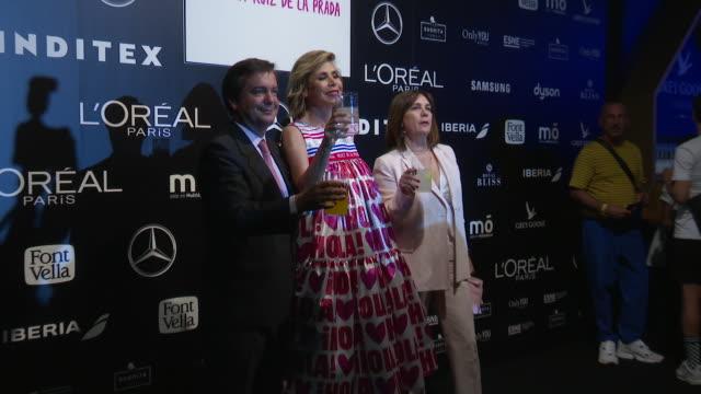celebrities attend the agatha ruiz de la prada catwalk at mercedes benz fashion week - mercedes benz fashion week stock videos & royalty-free footage