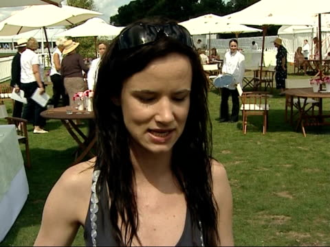 Celebrities attending Cartier International Polo Match Juliette Lewis interview SOT On being on day off from play in London / On play 'Fool for Love'...