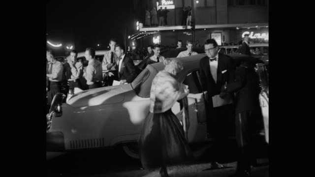 celebrities getting out from car during the premiere of giant - full suit stock videos & royalty-free footage