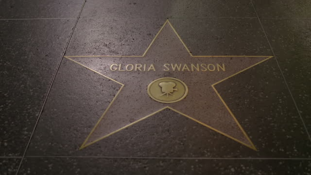 mstd celebrities name on stars at the hollywood walk of fame / hollywood boulevard, hollywood, city of los angeles, california, united states - ウォークオブフェーム点の映像素材/bロール