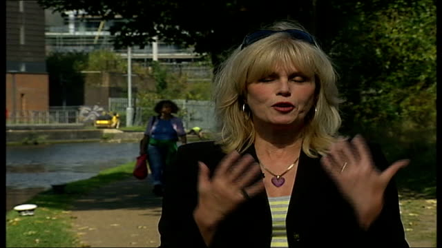celebrities pick their favourite parts of london joanna lumley reporter to camera - joanna lumley stock videos & royalty-free footage