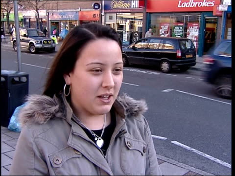 jade goody interviews following evicted from house amid racism claims bermondsey general view bermondsey high street pan vox pops local people sot - racism stock videos & royalty-free footage