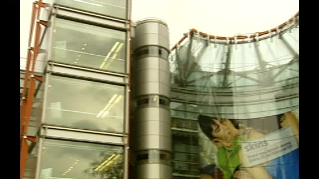 'celebrity big brother' shilpa shetty wins r23010707 horseferry road channel 4 headquarters low angle view of channel 4 building pan lifts channel 4... - krishnan guru murthy stock videos & royalty-free footage
