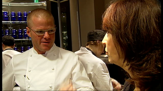 celebrity chef heston blumenthal opens new restaurant in london london mandarin oriental hyde park dinner int heston blumenthal interview sot on the... - tudor stock videos and b-roll footage