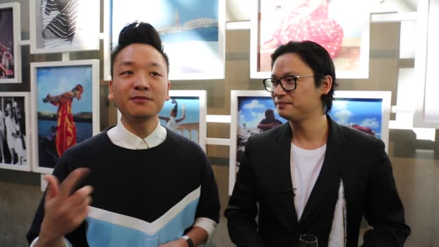 celebrity cook & designers leon & luke nguyen discuss their love of food and fashion at mercedes-benz fashion week resort 17 collections at... - andrew mathers video stock e b–roll