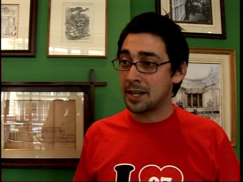'celebrity fame academy' contestants' interviews colin murray interview sot on fellowinmates including giedroyc and tricia penrose / on preferring... - radio jockey stock videos & royalty-free footage