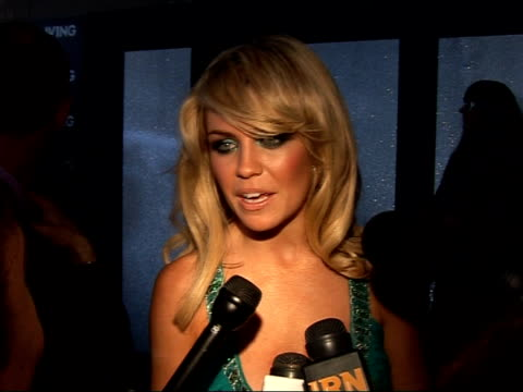 Celebrity interviews at Living TV summer launch Abigail Clancy speaking to press SOT On being chosen for 'Beauty and the Best' television programme...